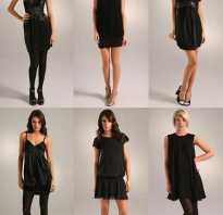Как носить чёрное платье