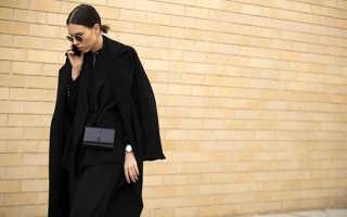 С чем можно носить чёрное пальто