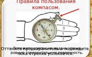 Как определять направление по компасу