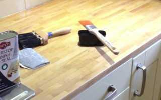 Как ухаживать за деревянной столешницей