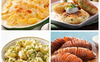 Какой гарнир можно приготовить из картошки